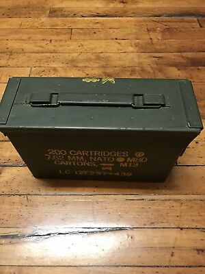 2 Pack 30 Cal Ammo Can Box  Army Military M19A1 Metal Storage 7.62 MM