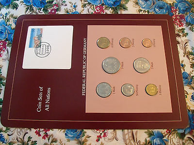 Coin sets of all nations Germany 1986 - 1988 UNC  5 Mark 1988 w/card