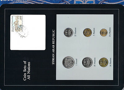 Coin Sets of All Nations Syria Syrian UNC 6 coin RARE 1973 - 1979 UNC