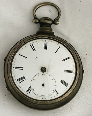 Antique Sterling Pair Case W. Robinson Liverpool Fusee Pocket Watch - No Reserve