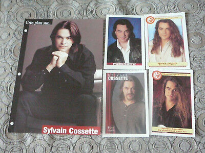 SYLVAIN COSSETTE PIN UP POSTER PHOTO AFFICHE 7.5 x 10.5 + 4 CARDS CLIPPING