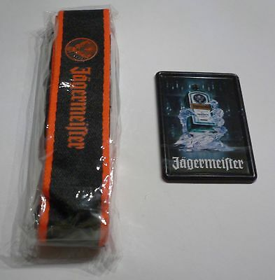 German JÄGERMEISTER  LANYARD + FRIDGE MAGNET