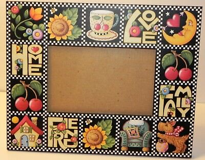 Mary Engelbreit Picture Frame Love Home Family Friend 3 x 5 Photo with Easel