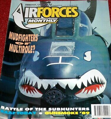 Air Forces Monthly 1990 February RAAF,A-10,CASA Aviojet