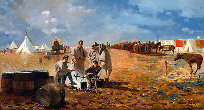 Rainy Day in Camp Painting by Winslow Homer Art Reproduction