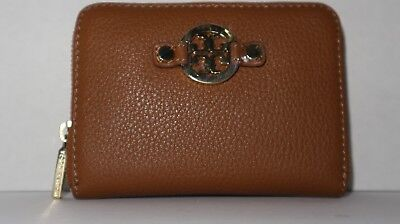 ee4a5dbd1ac2 NWT Tory Burch Amanda Zip Coin Case Wallet Bag in Royal Tan with Key ring