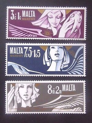 Malta-1972-Christmas-Set of 3-MNH