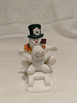 """Snowbabies Fun With Frosty The Snowman Dept 56 Figurine 4"""""""