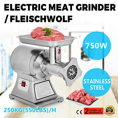 Electric Commercial Mincer Meat Sauage Grinder 3 Knives 250kg/h Stainless Steel
