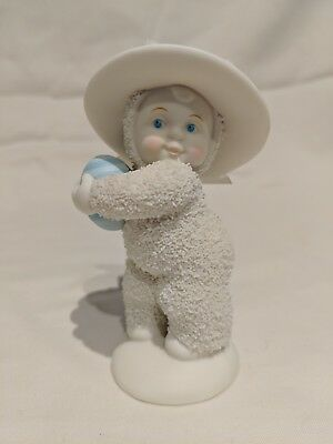 """Dept 56 Snowbabies Snow Bunny Bonnets and Bows With  Easter Egg 5"""""""