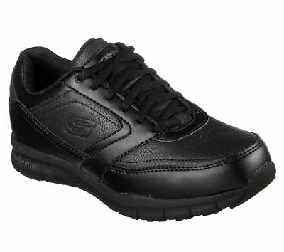 77235 Work Black Skechers Shoes Women Memory Foam Slip Resistant Electrical Safe