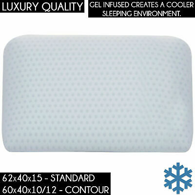 LUXURY GEL INFUSED TALALAY LATEX PILLOW Cooling Cold STANDARD & CONTOUR SIZE