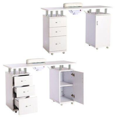Modern Salon Manicure Technicians Nail Station Table Desk SPA Drawers Bar/Wheels