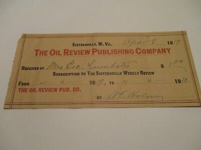The Oil Review Publishing Company - Sistersville West Virginia - 18Apr1919