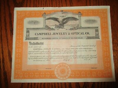 Campbell Jewelry & Optical Co. - unissued Chicago, Illinois