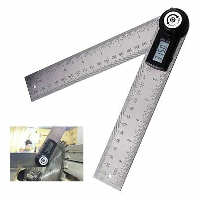 0~999.9° Stainless Steel Ruler Digital 360° Angle Finder Measurement Range 200mm
