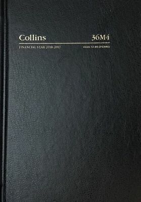 Diary 2018/2019 Financial Year Collins A6 Week to Opening Black 36M4 10.5x14.9cm