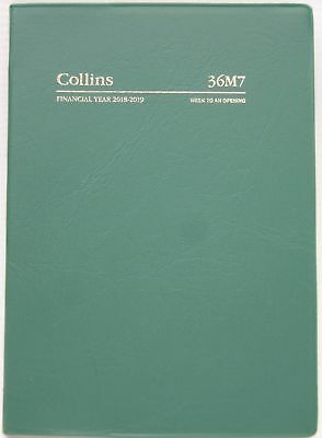 Diary 2018/2019 Financial Year Collins A6 Week to Opening Green 36M7 10.5x14.9cm