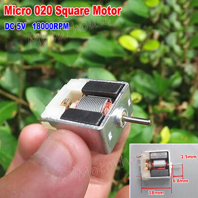 DC 5V 18000RPM Thin Micro Mini Square 18mm Bare Motor DIY Toy Model