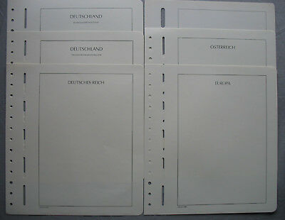 Leuchtturm Blanko Leaves, mostly with landesbezeichung, UNUSED BOXED