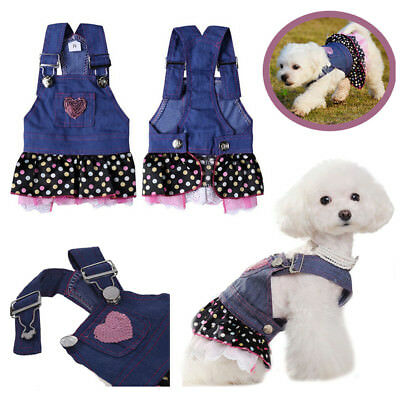 Dresses For Dogs Canine Pet Skirt Clothes Denim Casual Clothing192481200119