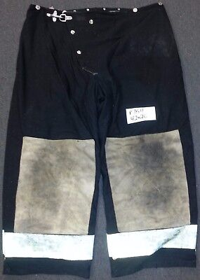 42x26 Firefighter Pants Bunker Fire Turn Out Gear Black Morning Pride P754