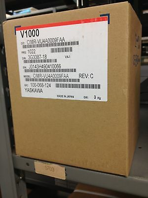 Yaskawa 5HP 8.8 Amps V1000 VFD CIMR-VU4A0009FAA Variable Frequency Drive NIB