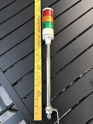 Patlite Corp Indicating Stack Tower Light Les-A, 24V Ac/dc, 0.2A, Pole Mount
