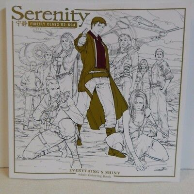 Dark Horse Comics Firefly Serenity Everything's Shiny Adult Coloring Book New!!!