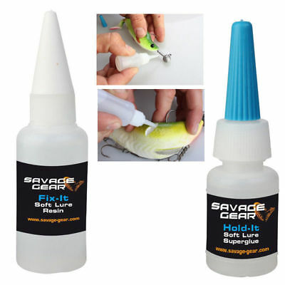 SAVAGE GEAR SOFT LURE HOLD IT SUPERGLUE & FIX IT RESIN crazy price