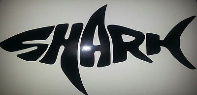 1x SHARK 500mm wide  Decal Sticker Boat Tackle Lure Fish Fishing black