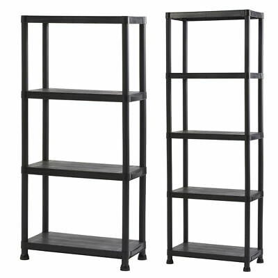 Strong Plastic Shelving Racking Storage for Garage, Utility Room, Shed & Office
