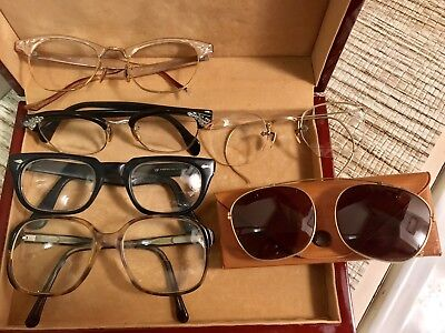Vintage  Lot of 6 Eyeglasses Artcraft American Optical 3 Gold Filled (3) Plastic