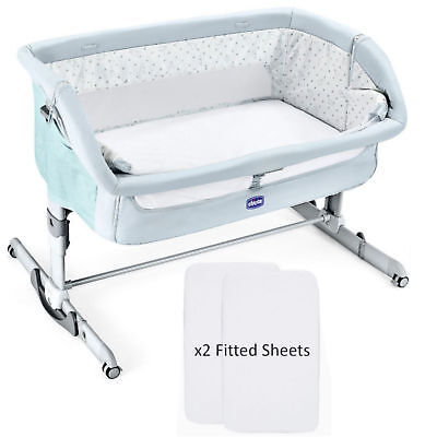 NEW CHICCO FAIRY TALE NEXT 2 ME DREAM SIDE SLEEPING CRIB WITH x2 FITTED SHEETS