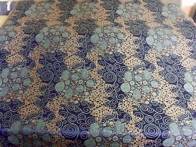 Vienna Workshops Archive Gustav Klimt Blue Brown Heavy Duty Upholstery Fabric