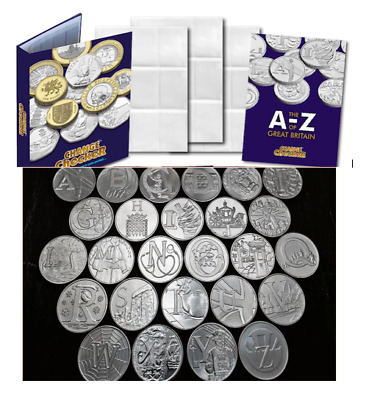 A-Z of Great Britain  10p Collecting Pack Includes Card For Each Coin