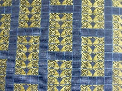 Vienna Workshops Archive Secessionist Art Nouveau Blue Gold Upholstery Fabric