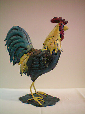 Home Interiors Metal Rooster Tea Light Candle Holder