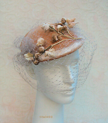 RAR: Hollywood-Vintage-Hat / Hut _ 1940s-1950s-Headpiece _ Beverly Hills L.A.