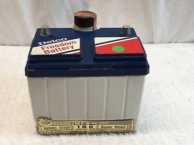 Jim Beam Decanter Delco Freedom Battery Sealed 100 Months Old Bourbon Whiskey