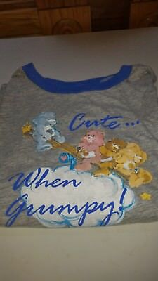 Vintage Care Bear Tee Shirt, Kids Cotton T-Shirt XL Care Bears, Cute When Grumpy