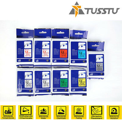Great Quality Compatible For Brother P-Touch Label Printer Tze Label Tape To12mm