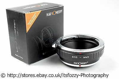 K&F Concept EOS to M43 Adapter Canon EF to Micro Four Thirds MFT Adapter
