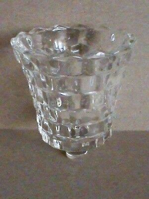 Homco Clear Glass Lady Love Candle Holder Cup Insert
