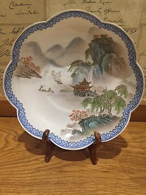 Antique Chinese Porcelain Cantonese?  Plate hand painted