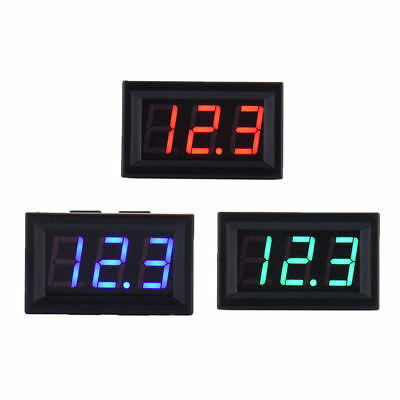 "4.5-30V DC Two-Wire 0.56"" Red Green Blue Panel Mount Digital Voltage Voltmeter"