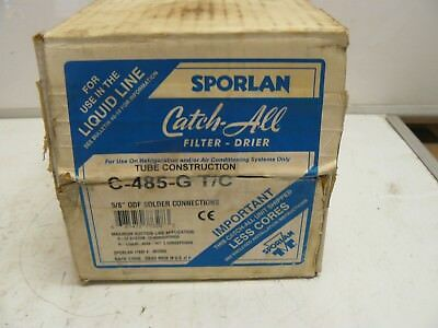 New Sporlan C-485-G T/c Catch All Filter Drier 5/8 Inch Odf Solder Connections