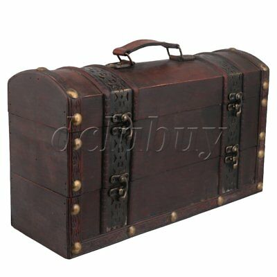 Wooden Retro European Wine Gift Case 2 Bottle Storage Box Holder