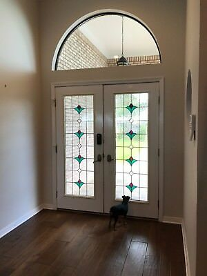 Front Double Doors, Arthur Rutenberg,  stained glass inserts; matching window