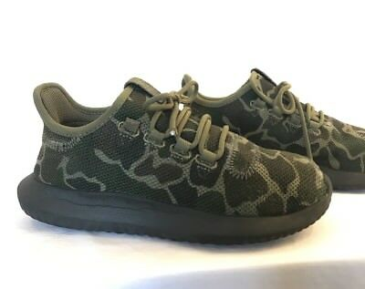 72259500cff3 Adidas Tubular Shadow Camo Camouflage Black Textile Knit Shoes Mens 5 Some  Wear